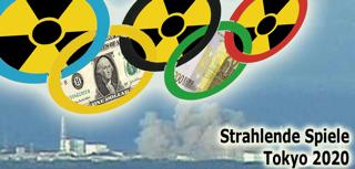 Banner für eine kommende Kampagne zu Olympia in Tokyo 2020