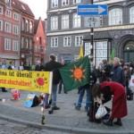 Mahnwache am 10.03.2014 in Lüneburg